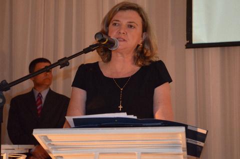 A Presidente da Abapa, Isabel da Cunha, fala aos produtores