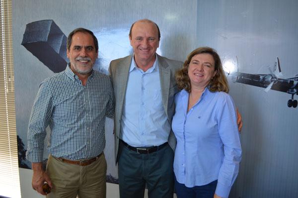 João Carlos Jacobsen, Neri Geller e Isabel da Cunha