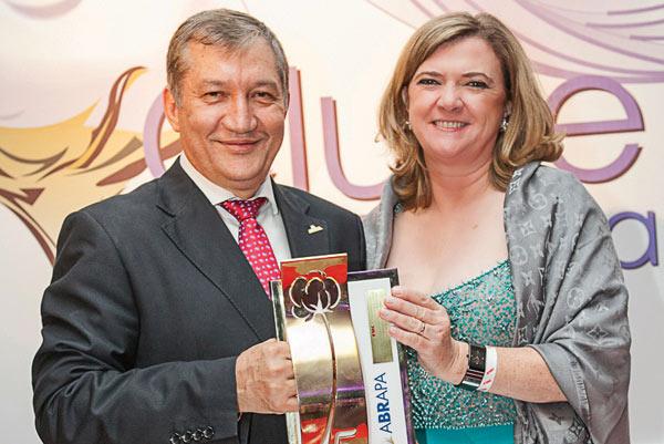 Presidente da Abrapa, Gilson Pinesso e a presidente da Abapa, Isabel da Cunha