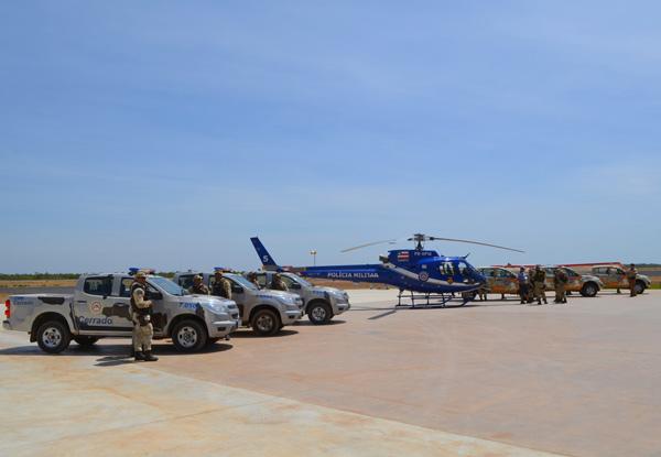 Ao todo 72 homens treinados, seis novas viaturas e um helicóptero estão mobilizados