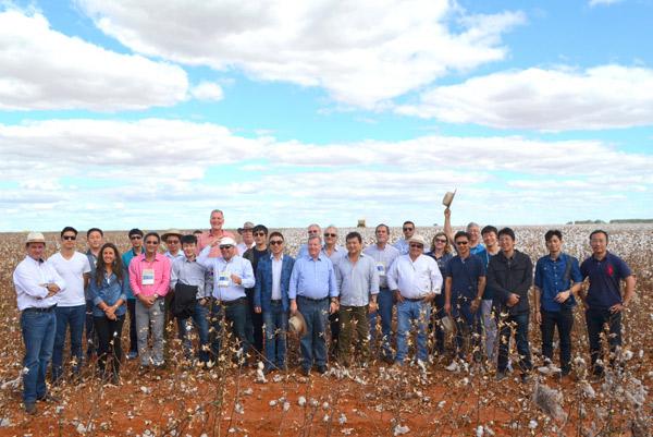 Comitiva visita colheita de algodão na Bahia