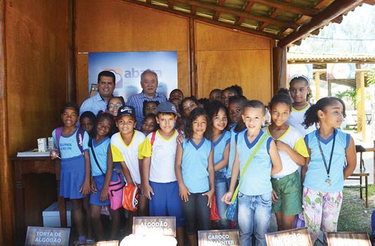 O diretor da Abapa, Paulo Mizote, visitou a Fenagro