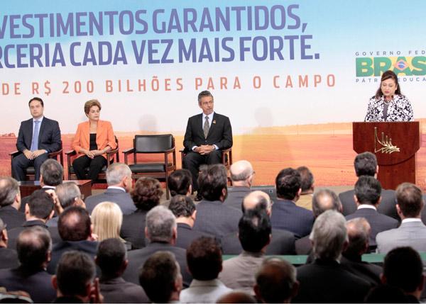 Ministra da Agricultura, Kátia Abreu, na cerimônia de lançamento do Plano Safra