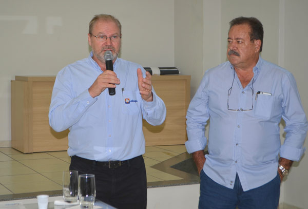 Presidente da Abapa, Celestino Zanella e Presidente da Fundação Bahia, Ademar Marçal