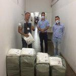 Entrega de 200 toalhas ao Hospital Menandro de Farias