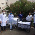 Entrega de 300 toalhas ao Hospital Aristides Maltez