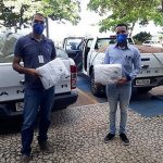 Entrega de 4.100 toalhas para a Secretaria de Saúde da Bahia