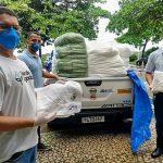 Entrega de 1 mil toalhas para a Secretaria de Saúde da Bahia